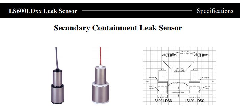 LS600LDxx Leak Sensor