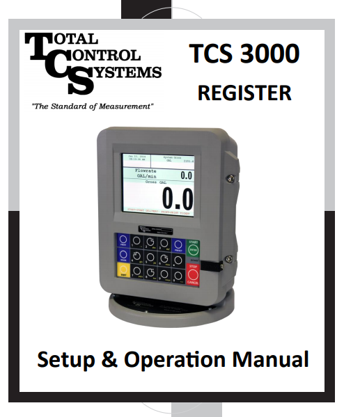 Total Control Systems 3000 Register